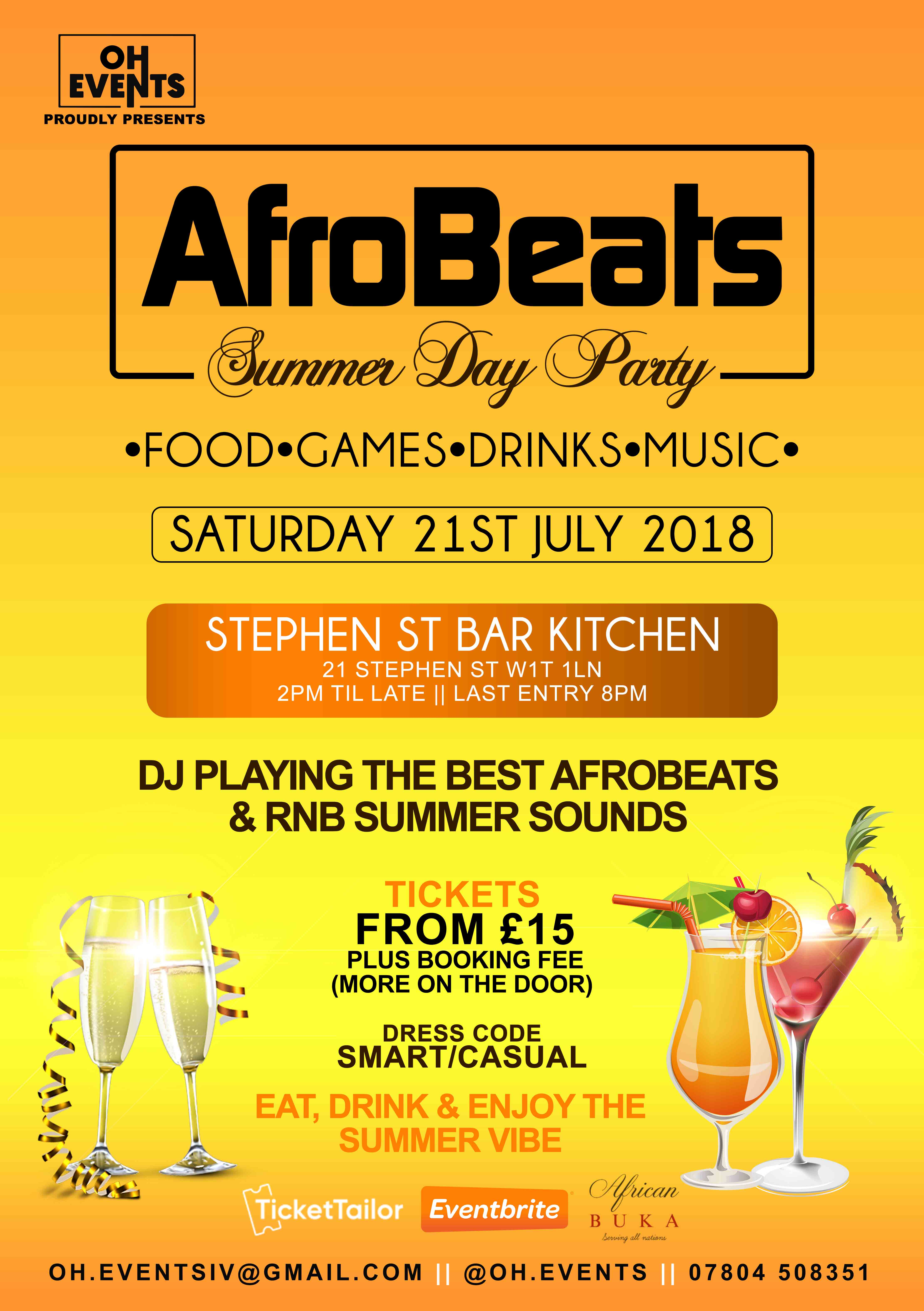Afrobeats Summer Day Party | Fitzrovia, London Daytime
