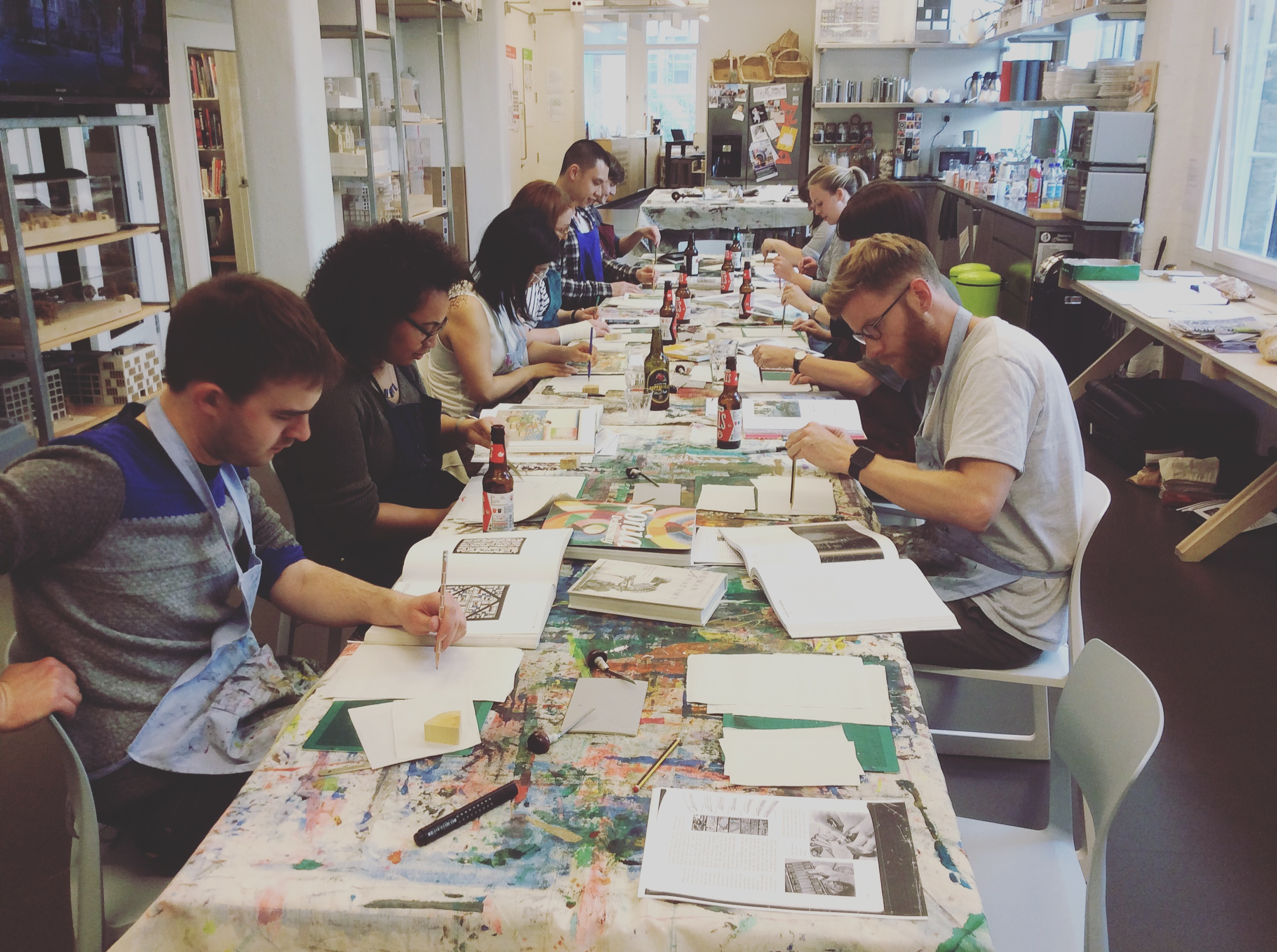 Metallic Printing Workshop at Forest Depford