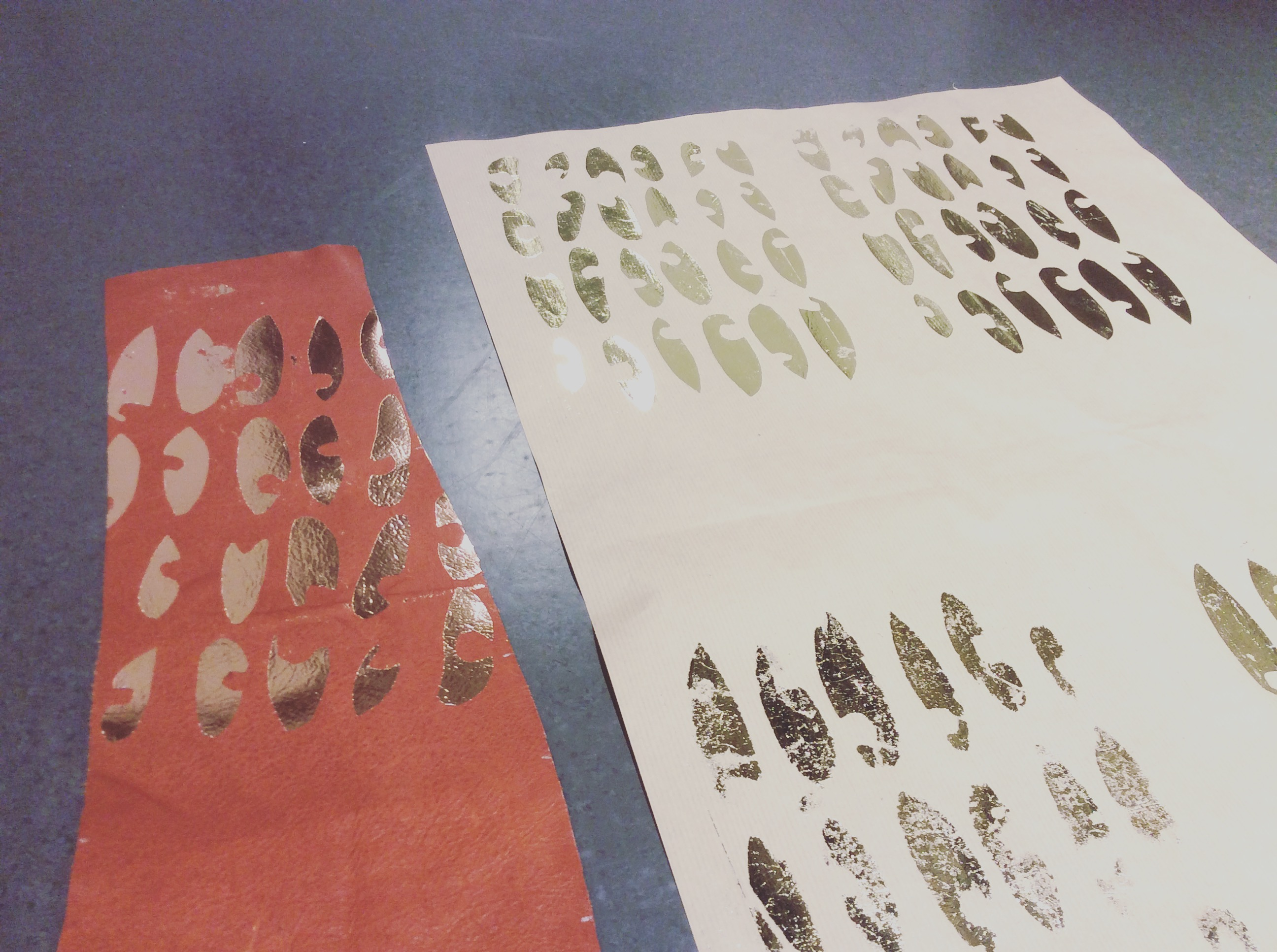 Metallic Printing Workshop at Wimbledon Art Studios (Christmas Gift Making)