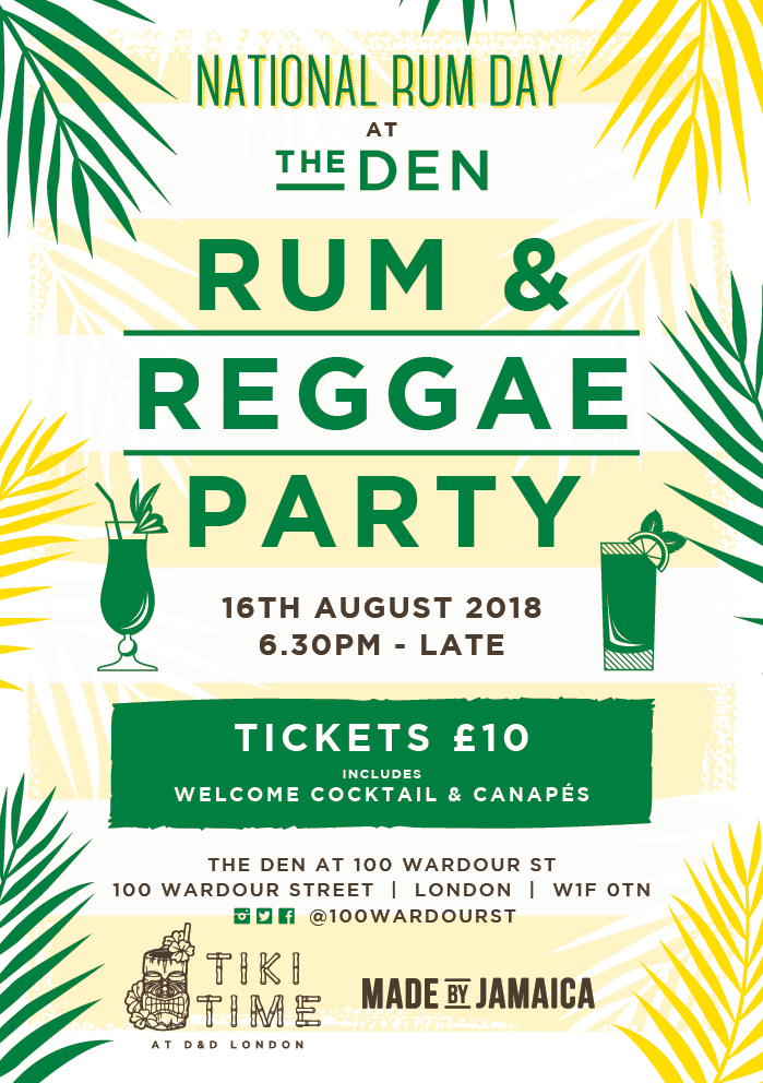 Rum & Reggae Party at The Den Soho