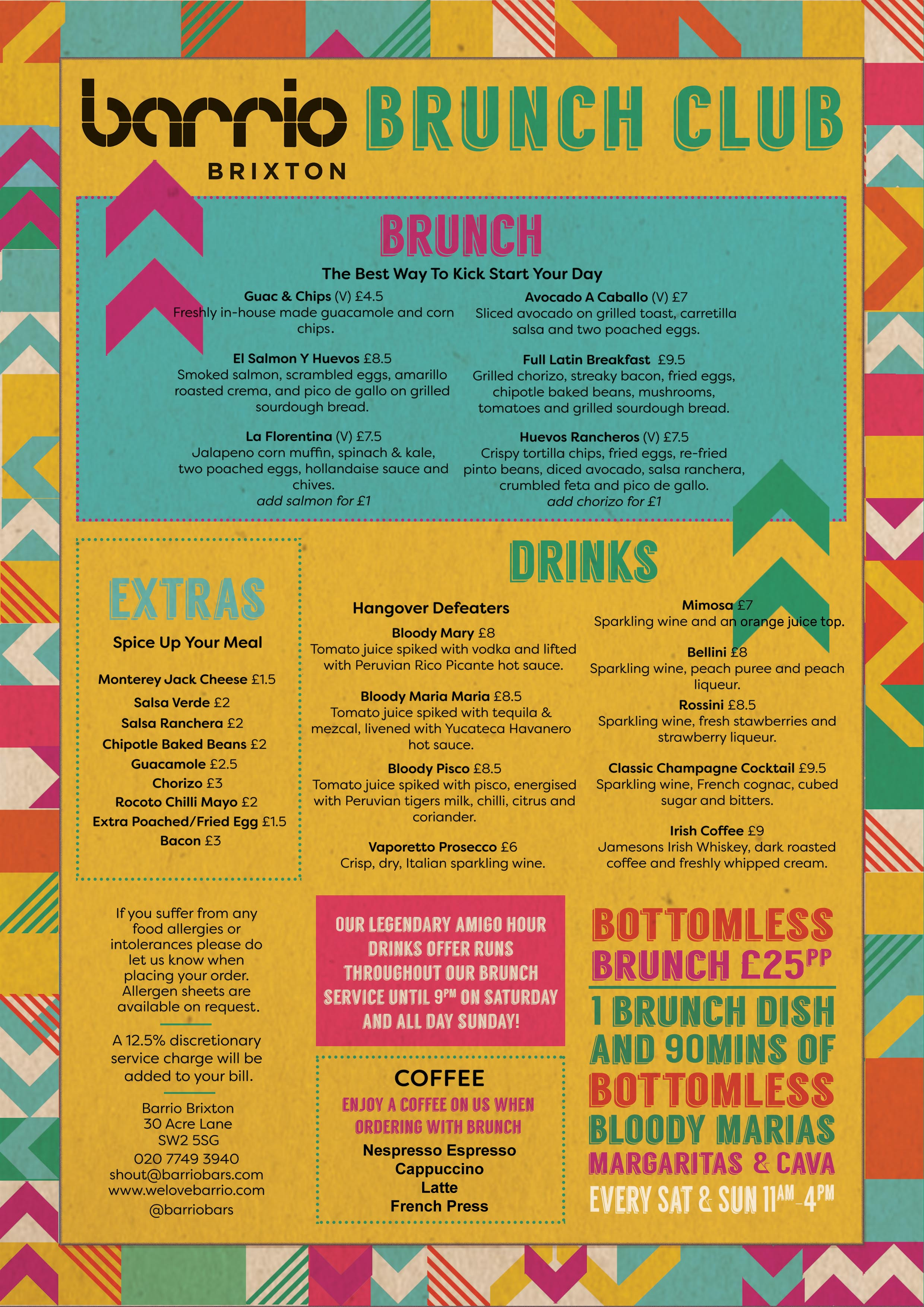 Barrio Shoreditch: Barrio Brixton Brunch Club