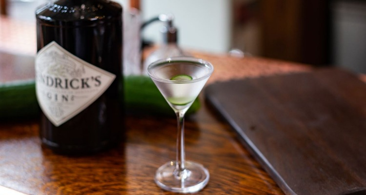 Hendrick's Gin martini pop up