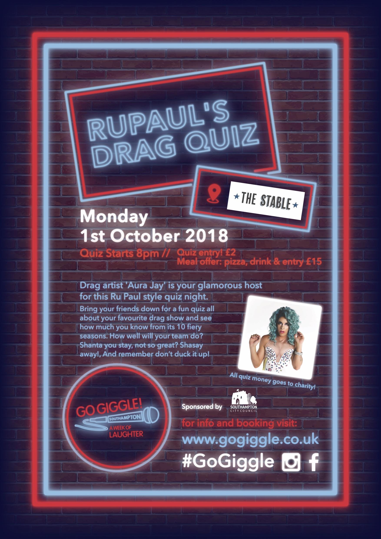 Quiz Night - Ru Paul's Drag Race -#GoGiggle   UK Quiz Night