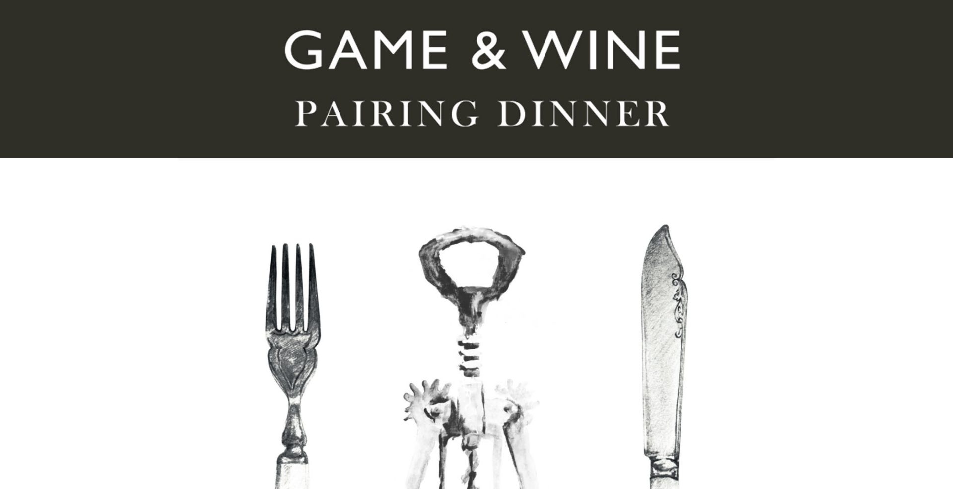 Game and Wine Pairing Dinner