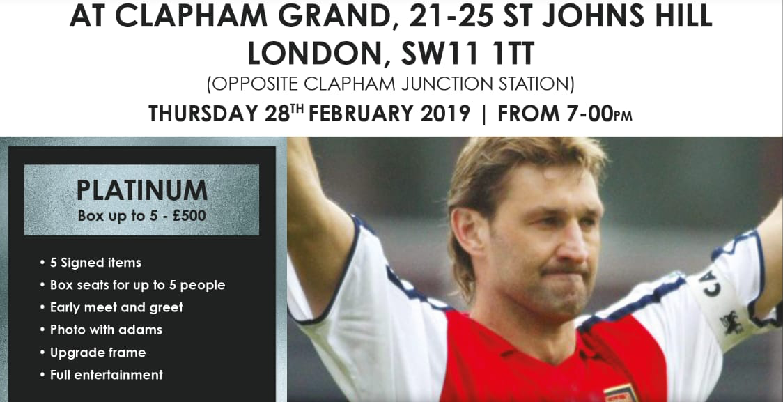 An Evening With Tony Adams