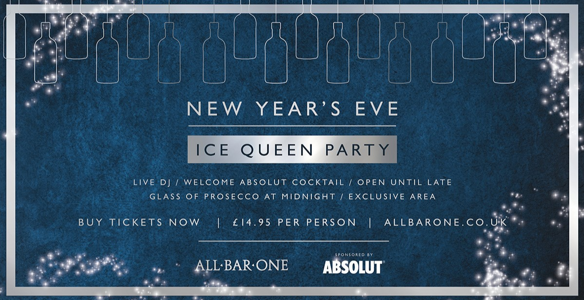 NYE Ice Queen Party - Worcester