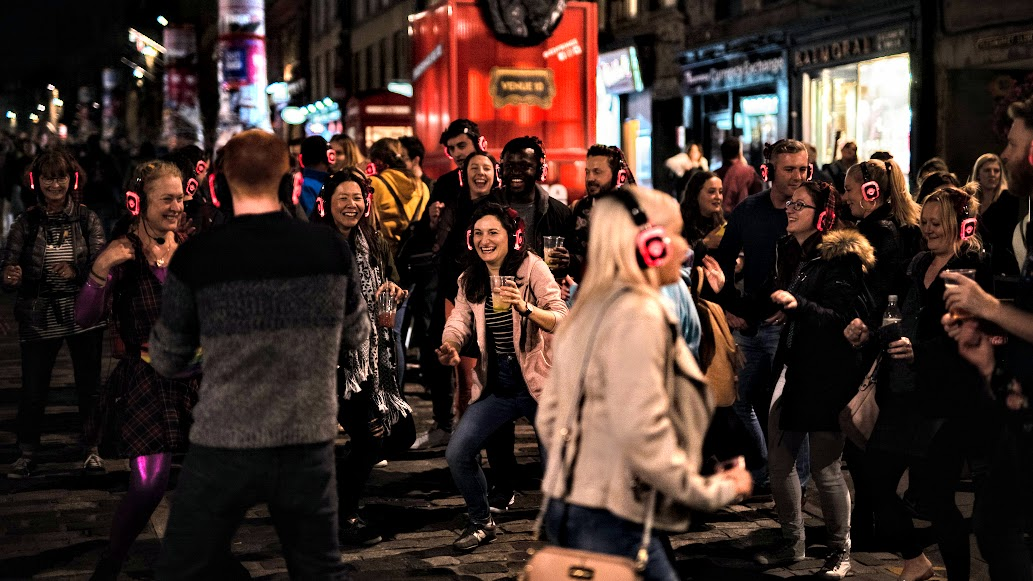 Silent Disco walk Tours London Friday Fever