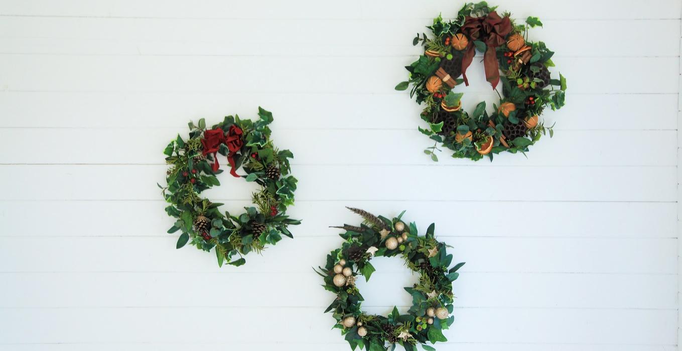 Luxury Artificial Christmas Wreath Making Workshop Kings Cross