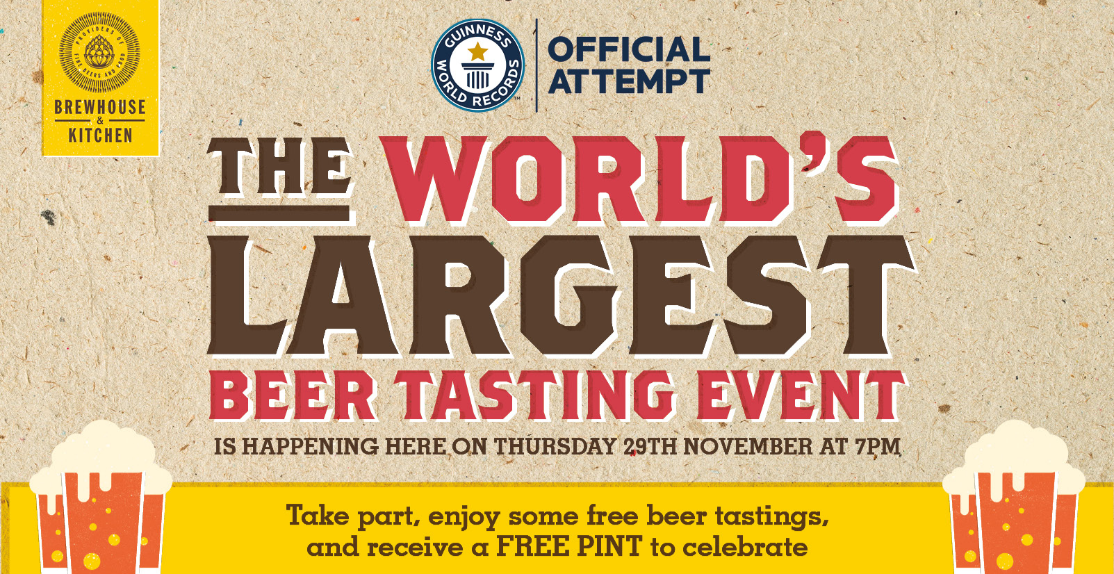WORLD'S LARGEST BEER TASTING EVENT