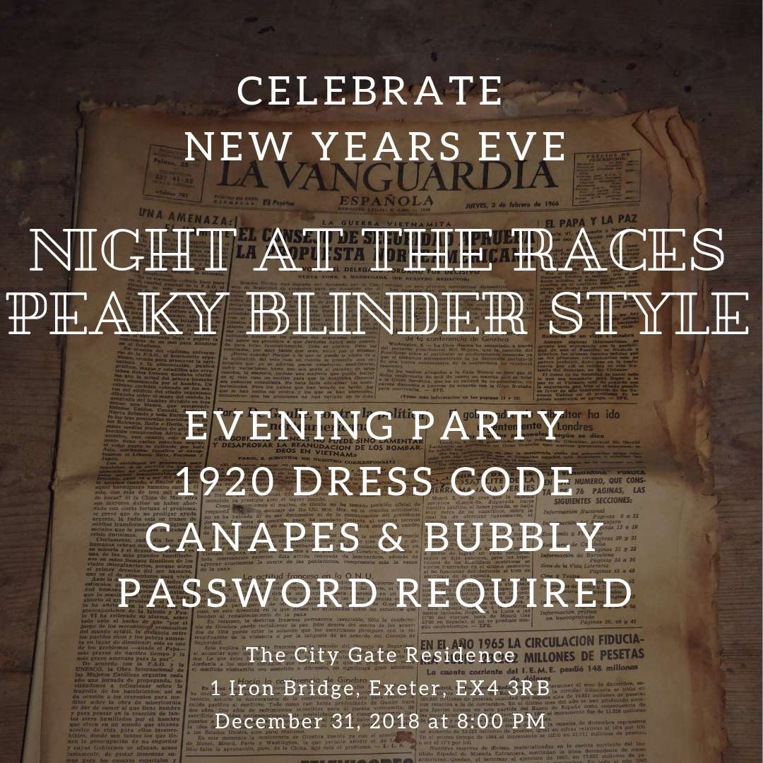 NYE Night at the Races - Peaky Blinder Style