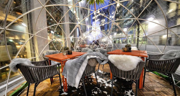 Image result for the refinery spinningfields igloos