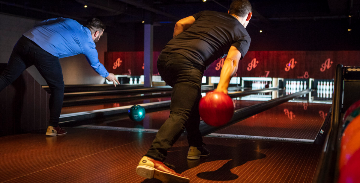 Drink, dine & bowl experience for two