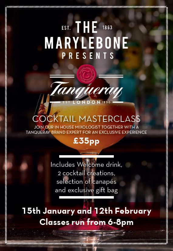Tanqueray Cocktail Masterclass at The Marylebone