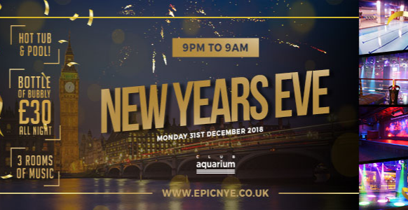 Epic NYE 2018 - 9pm to 9am