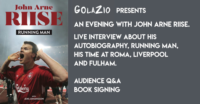 John Arne Riise autobiography signing with Q&A