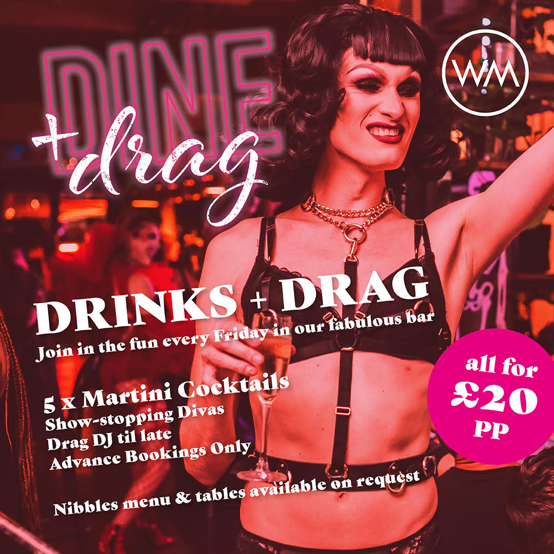 DRINKS + DRAG