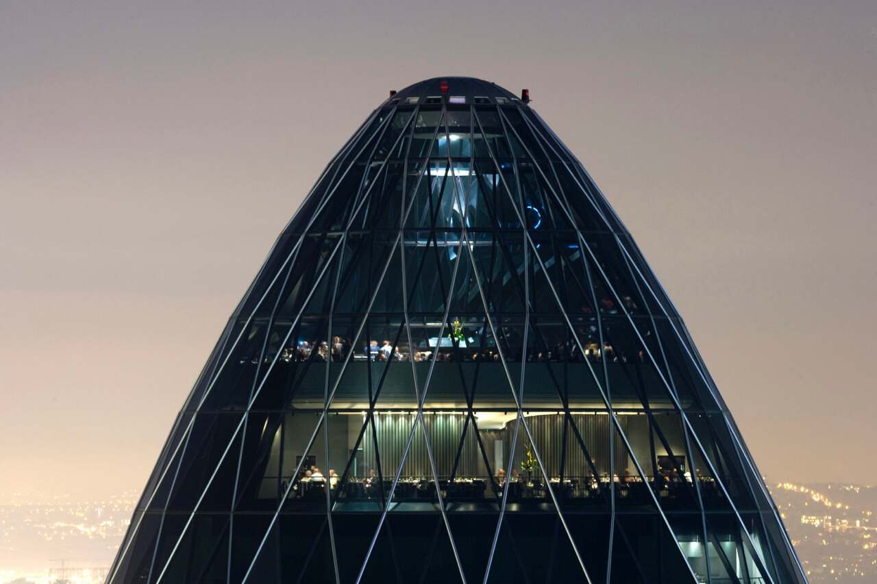 IRIS Bar at The Gherkin by Searcys