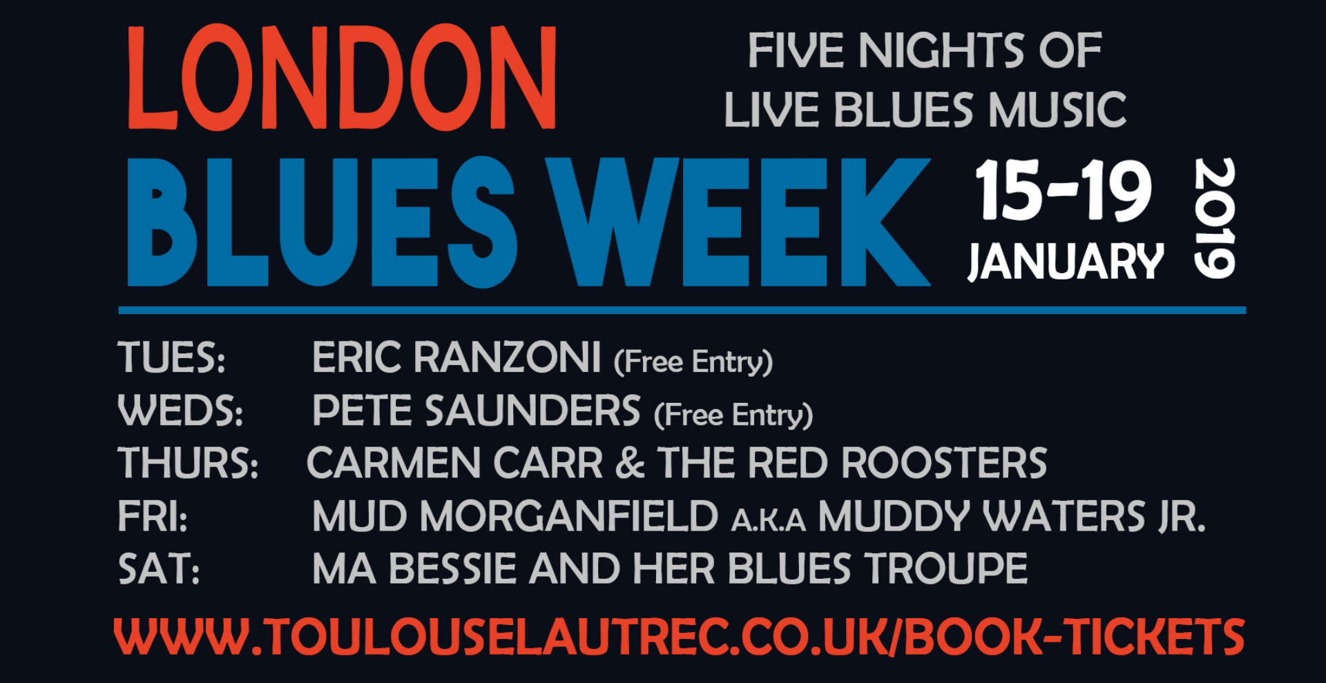 LONDON BLUES WEEK:  CARMEN CARR & THE RED ROOSTERS