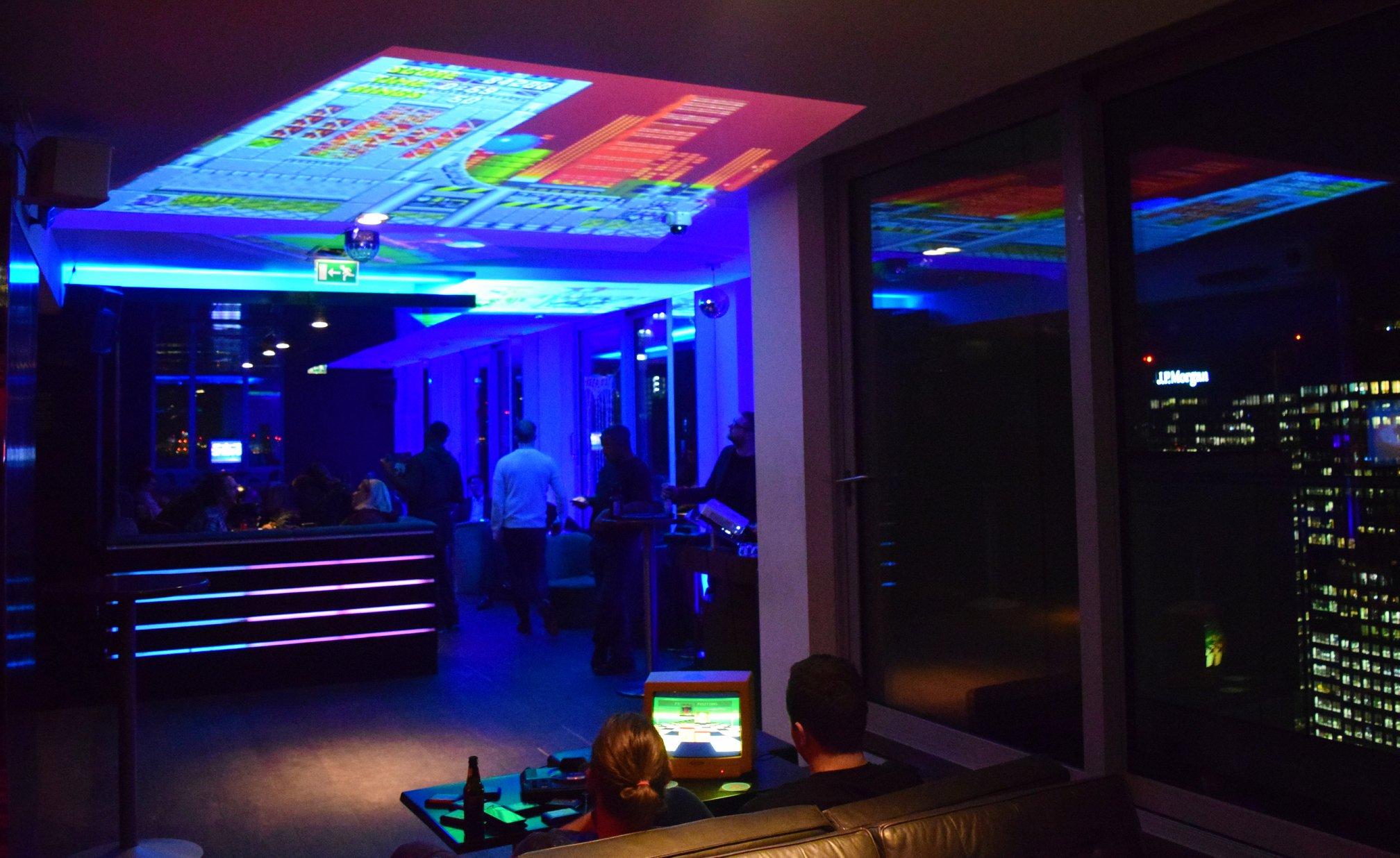 16 Bit Sky Bar 500ft High Sega Retro Gaming Cocktails