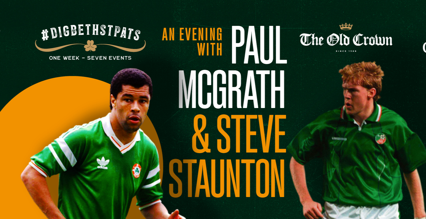 An evening with Paul McGrath and Steve Staunton