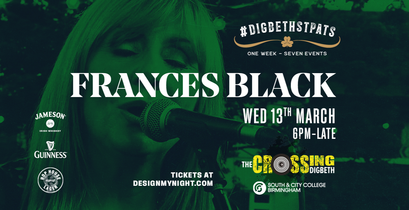 Frances Black live in Birmingham!