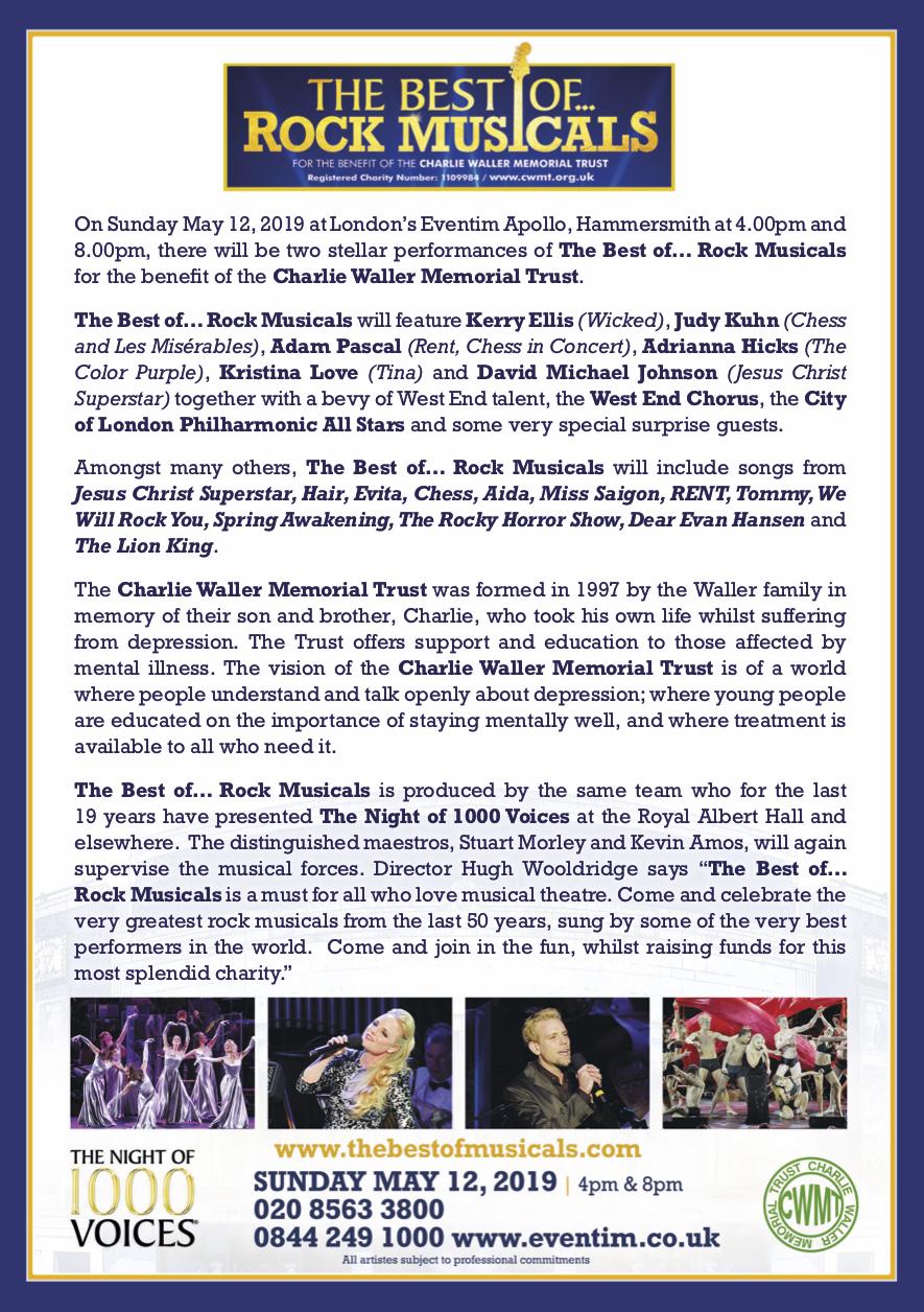 The Best Of    Rock Musicals | Hammersmith, London Theatre/Arts