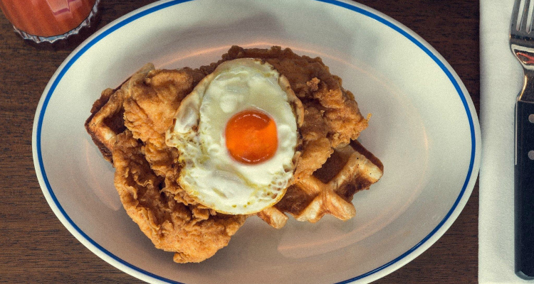 Foxlow chicken and waffles Balham