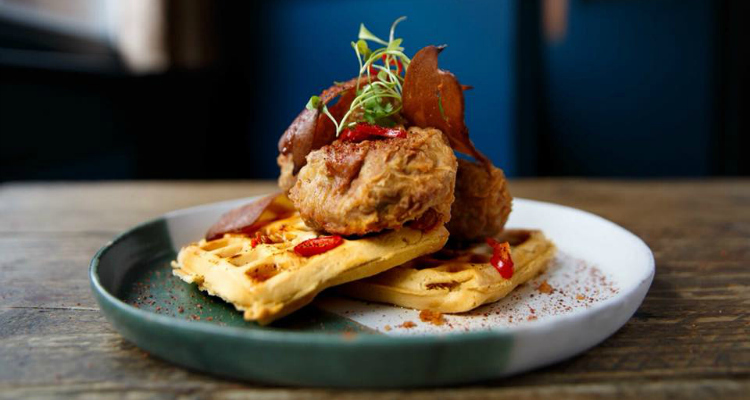 Spread Eagle vegan chicken and waffles London