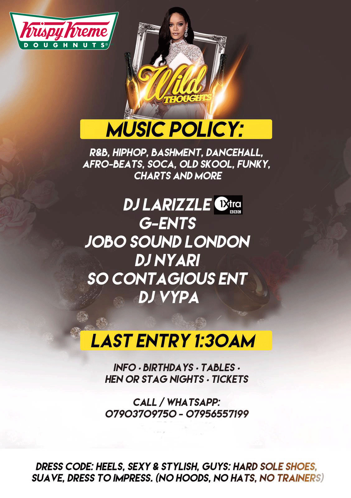SWAY  Wild Thoughts  Central London  4th May  Sway Bar  £5