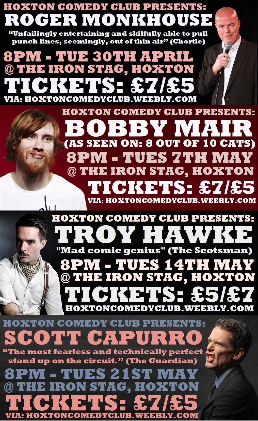 Hoxton Comedy Club @ Iron Stag