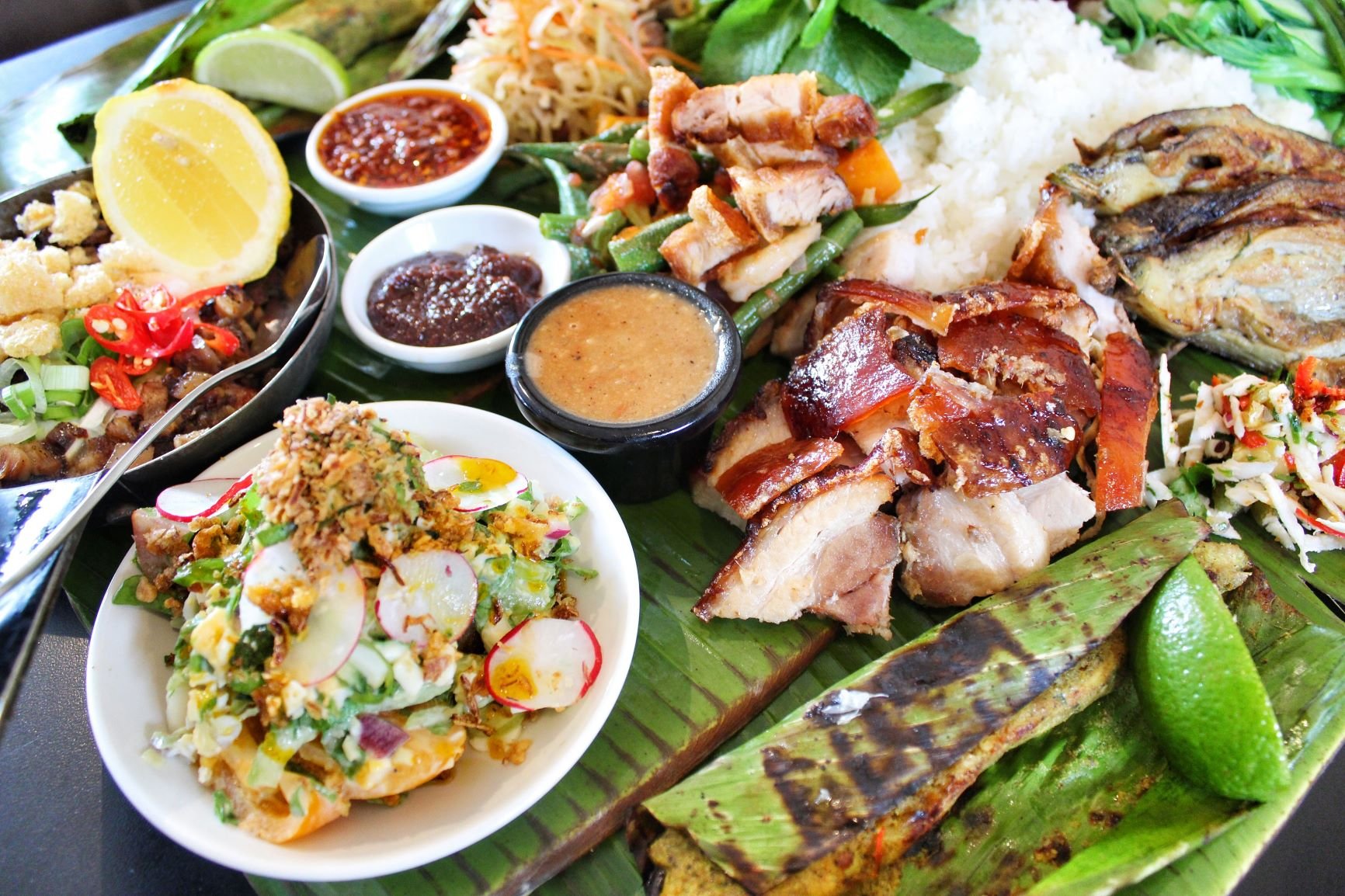 Boodle Fight - The Filipinos celebratory feast!