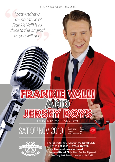 Incredible Frankie Valli & Jersey Boy Tribute