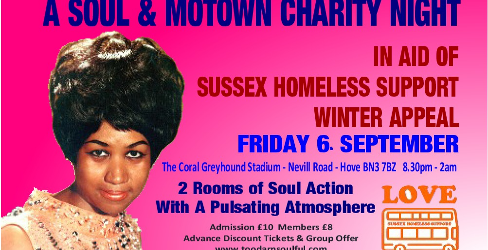The Soul Survivors SOUL & MOTOWN Night in aid of Sussex Homeless