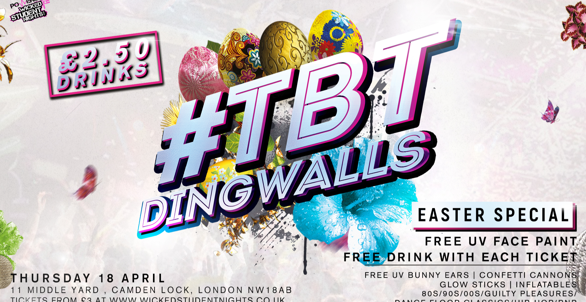 #TBT EASTER Special  @ DINGWALLS  (1 FREE DRINK)