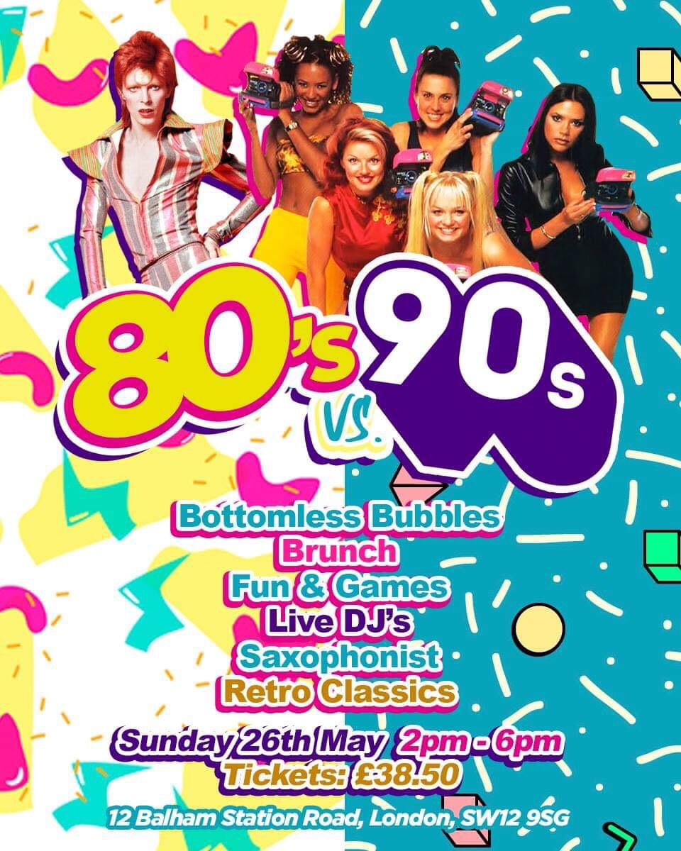 80s V 90s - The Ultimate Brunch and Day Party