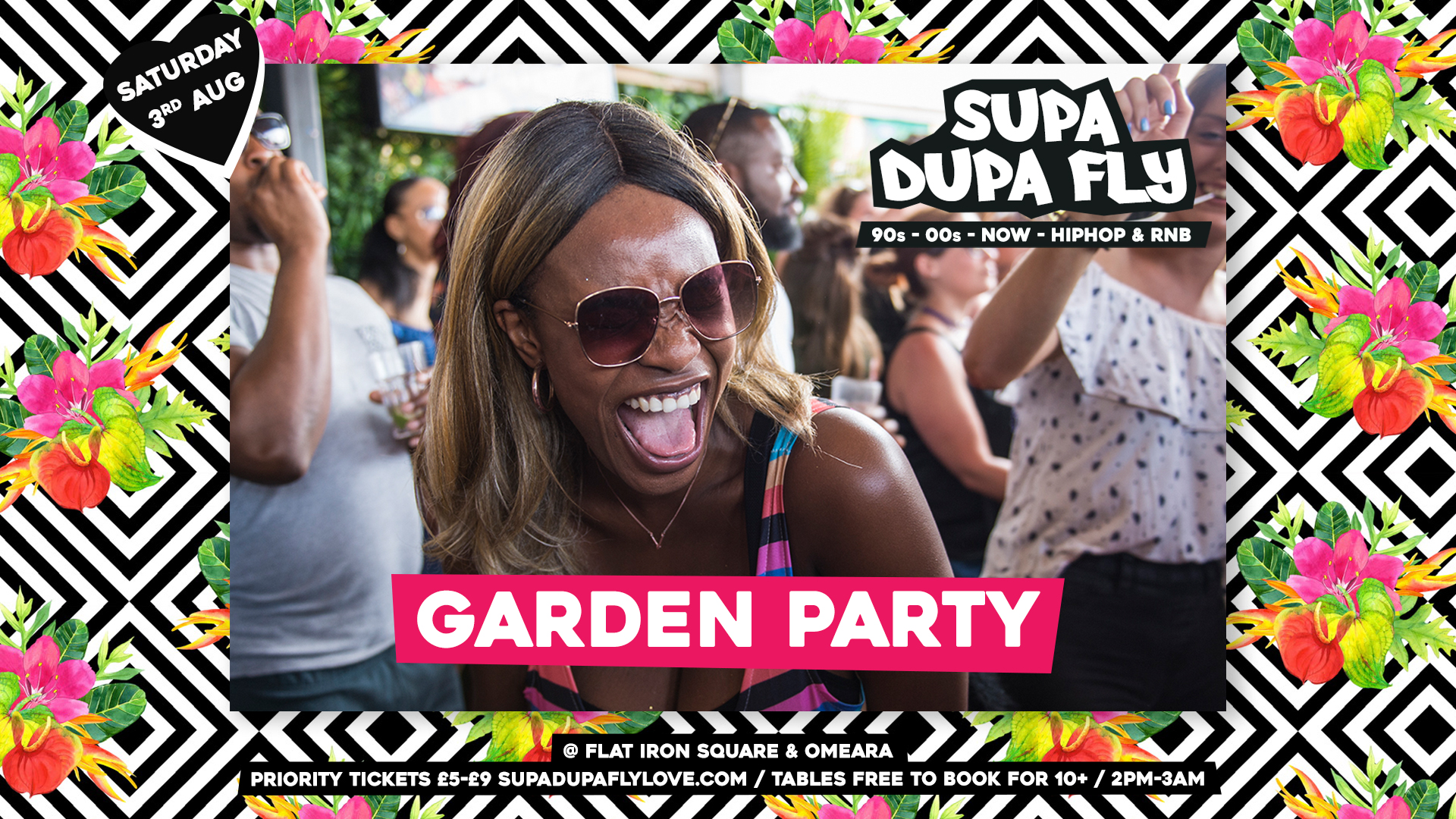 Supa Dupa Fly x Garden Party x Flat Iron Square