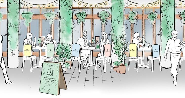 summer gin pop up terrace bristol
