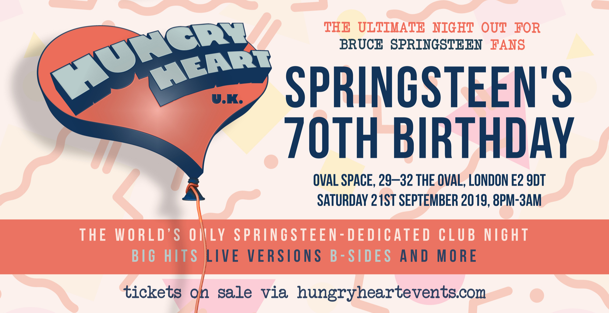 HUNGRY HEART- SPRINGSTEEN'S 70TH BIRTHDAY!