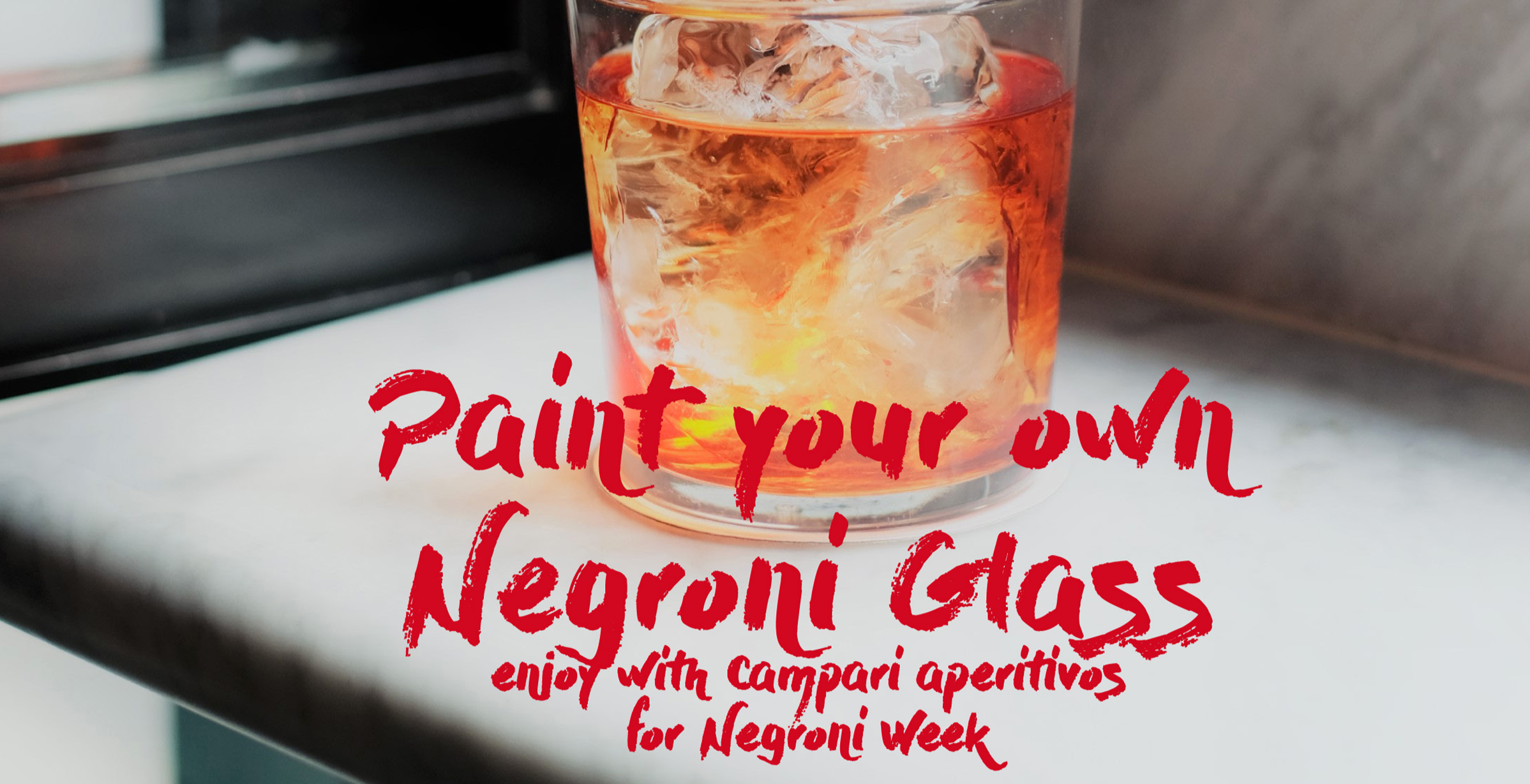 Craft and Cocktails; Paint Your Own Negroni Glass, With Campari