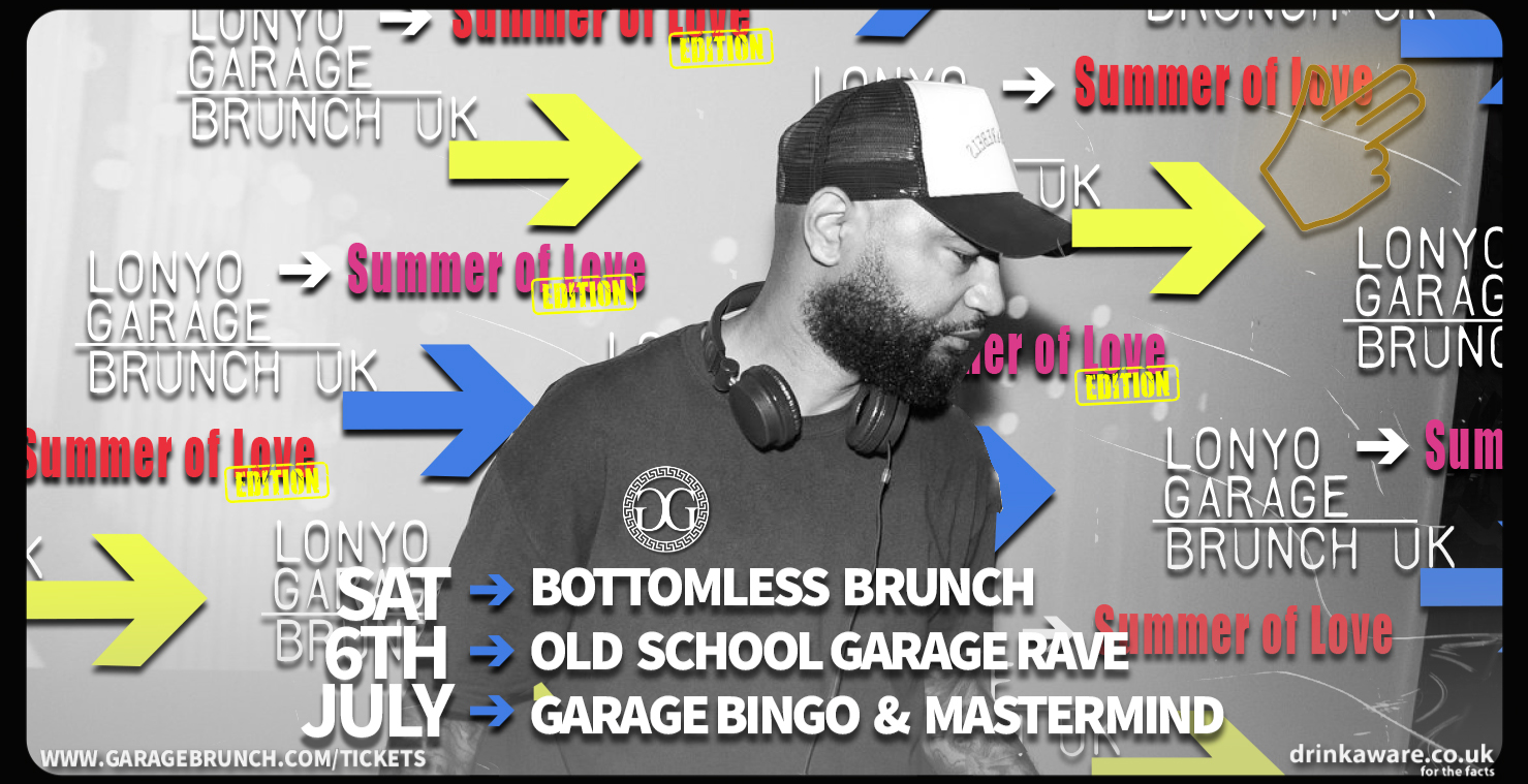 Garage Brunch 6th July - SUMMER OF LOVE
