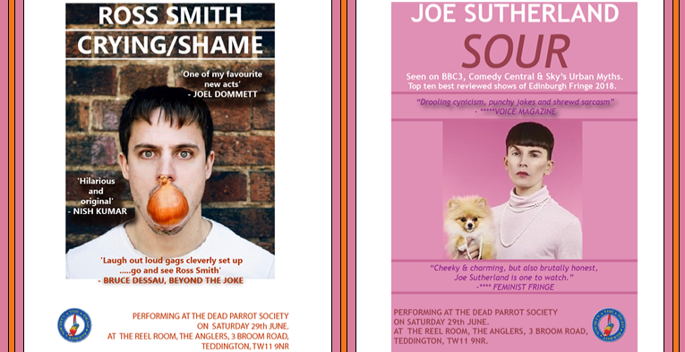 Edfringe preview nights at The Anglers: Ross Smith & Joe Sutherland