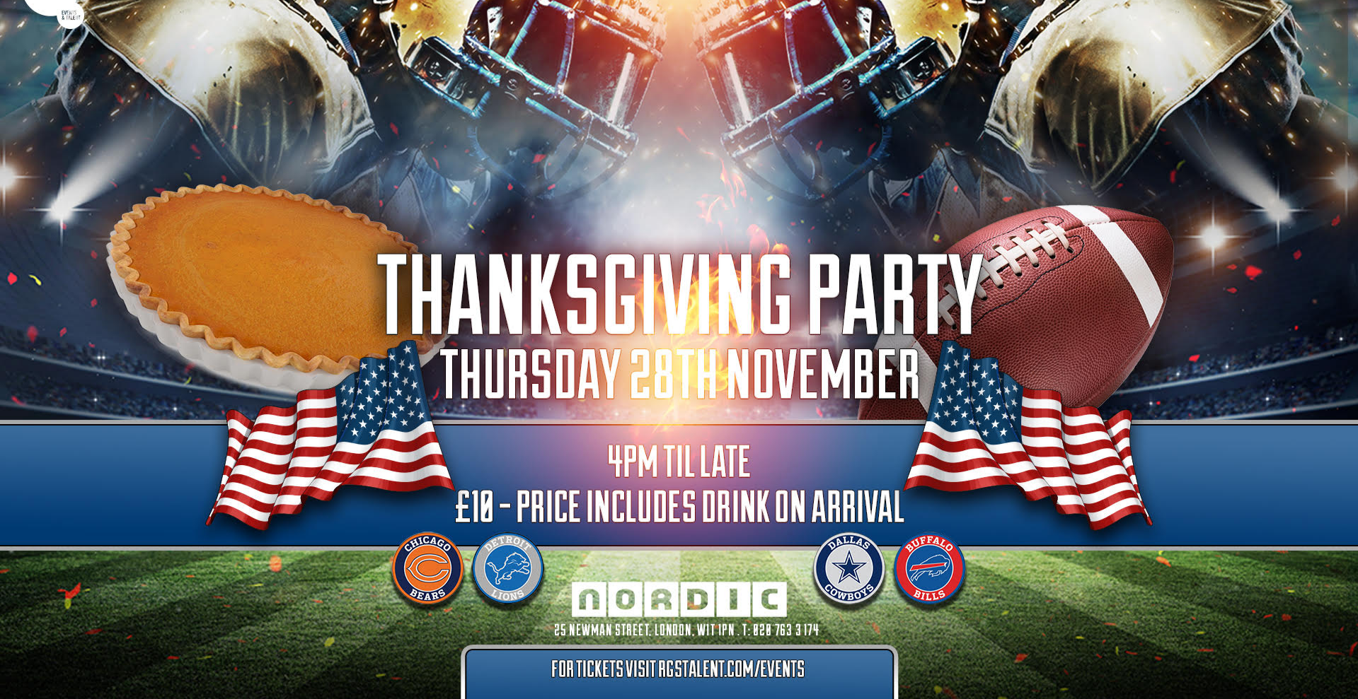 NFL Thanksgiving Party London
