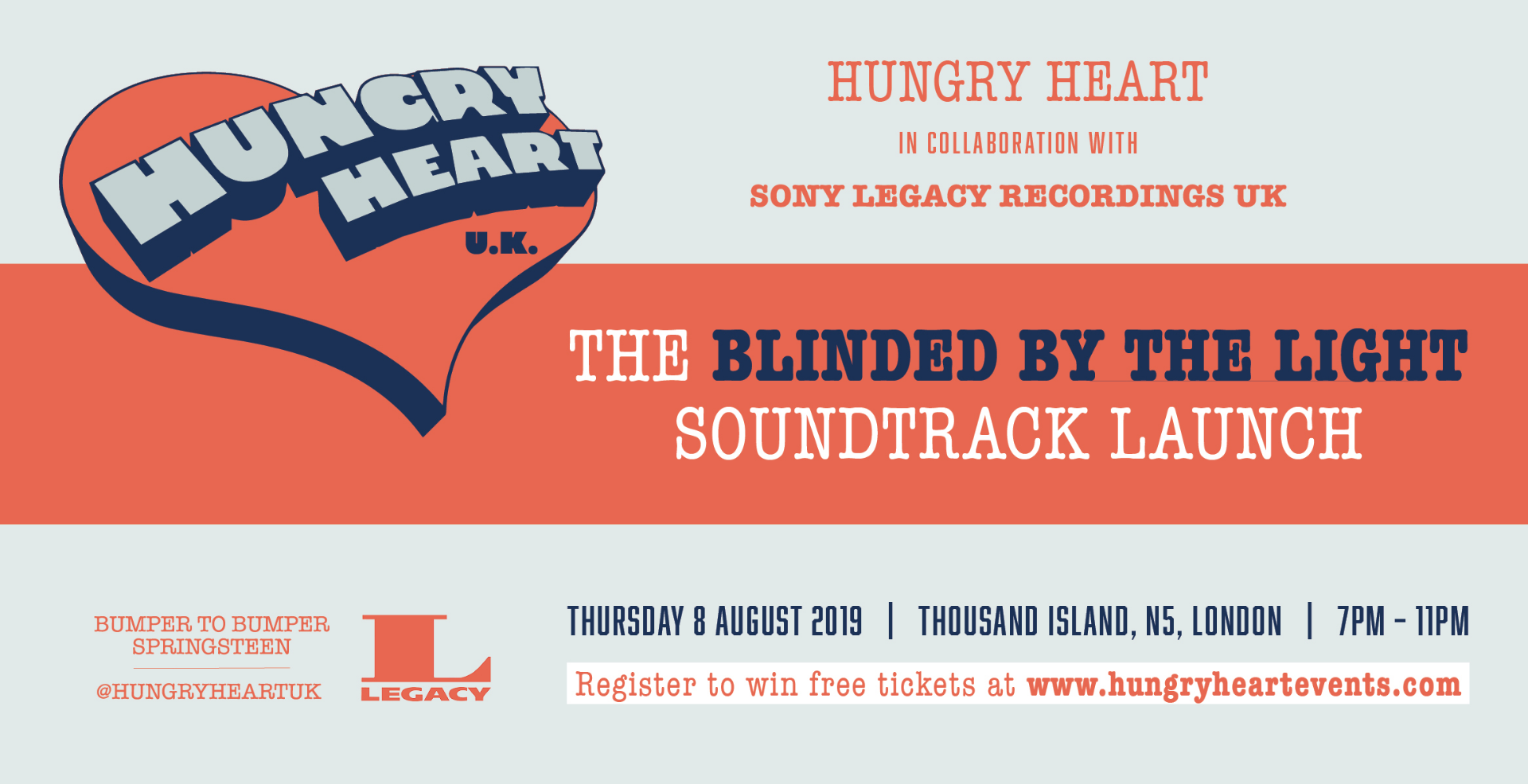HUNGRY HEART x LEGACY RECORDINGS – BLINDED BY THE LIGHT SOUNDTRACK LAUNCH