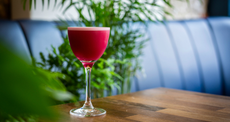 Little Mercies pink drinks menu
