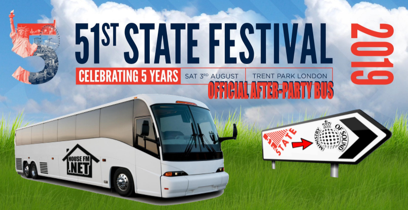 Official 51st State Festival After-Party Bus To Ministry Of Sound