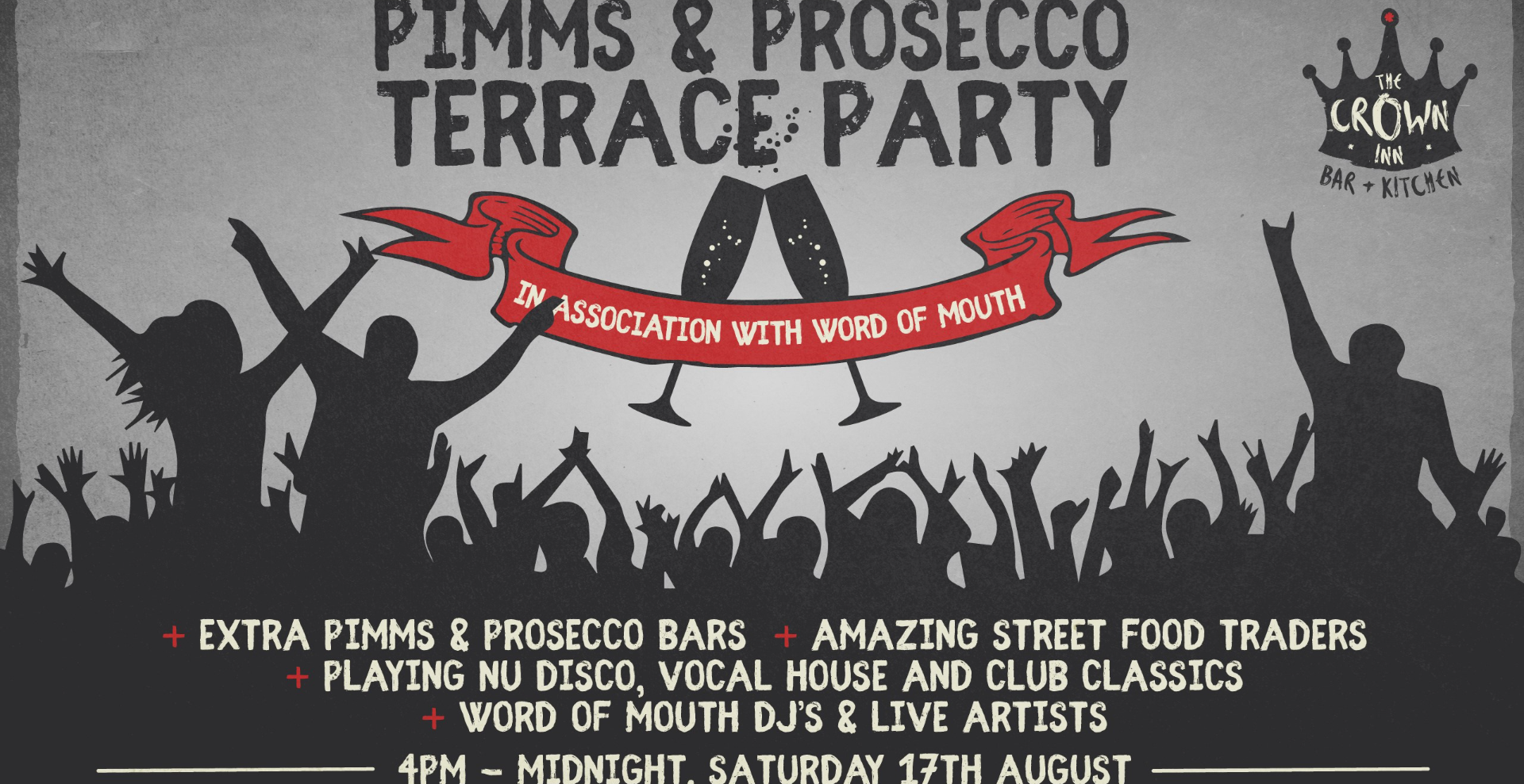 PIMMS & PROSECCO TERRACE PARTY In association with Word of Mouth