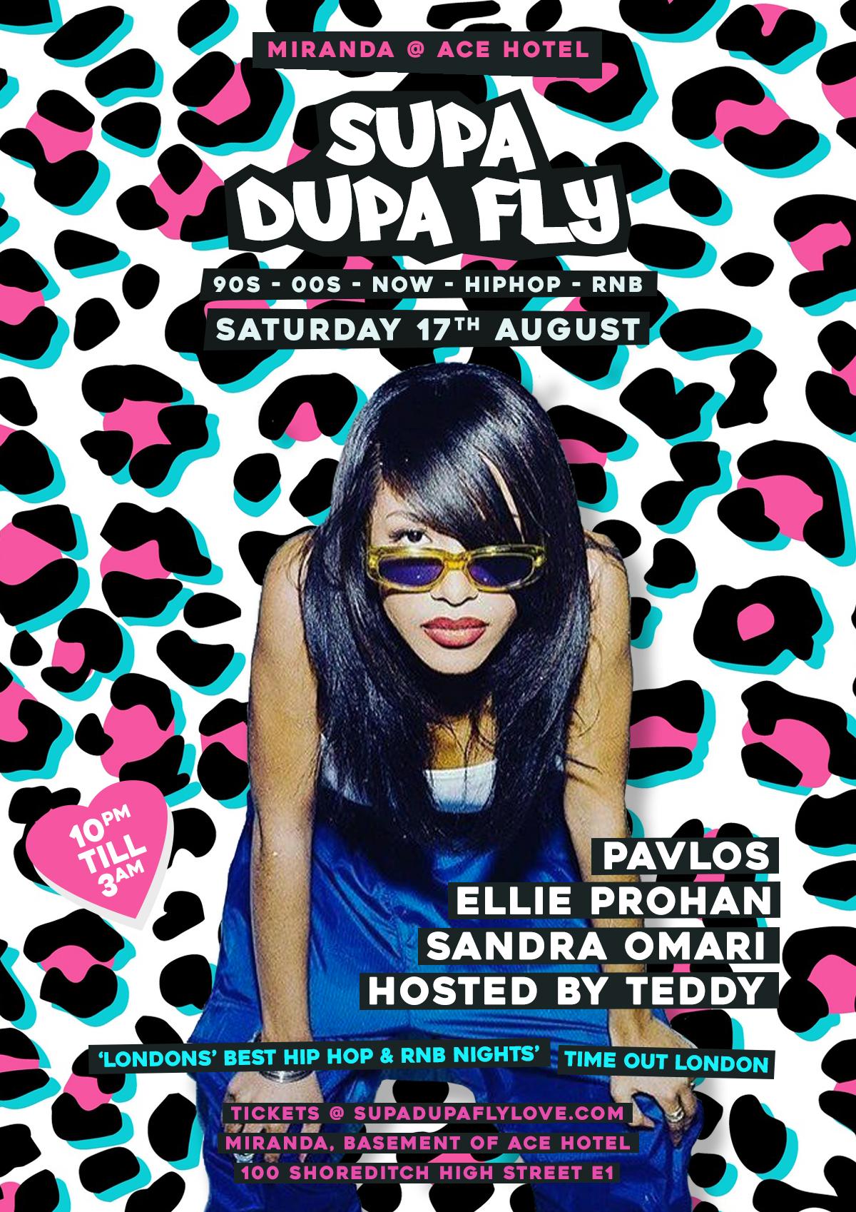 Supa Dupa Fly x Ace Hotel x 3rd Sat's | Shoreditch, London