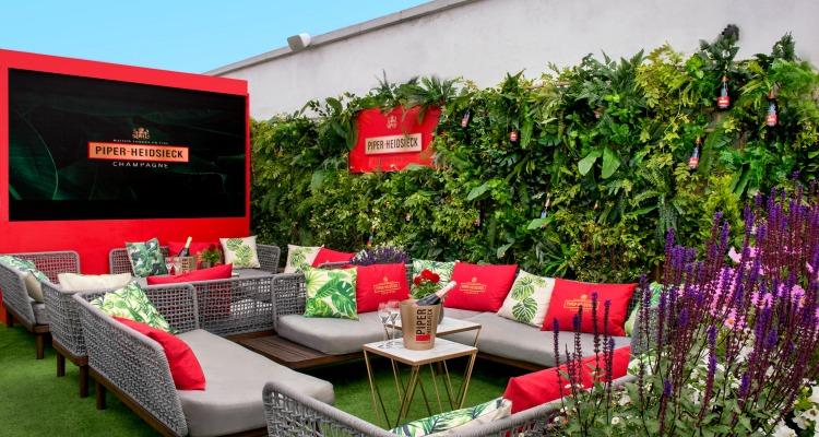 champagne rooftop garden in london