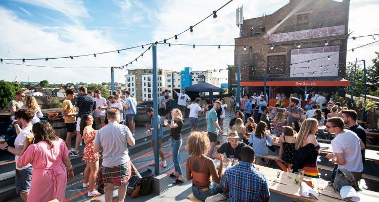 rye society rooftop bar in peckham