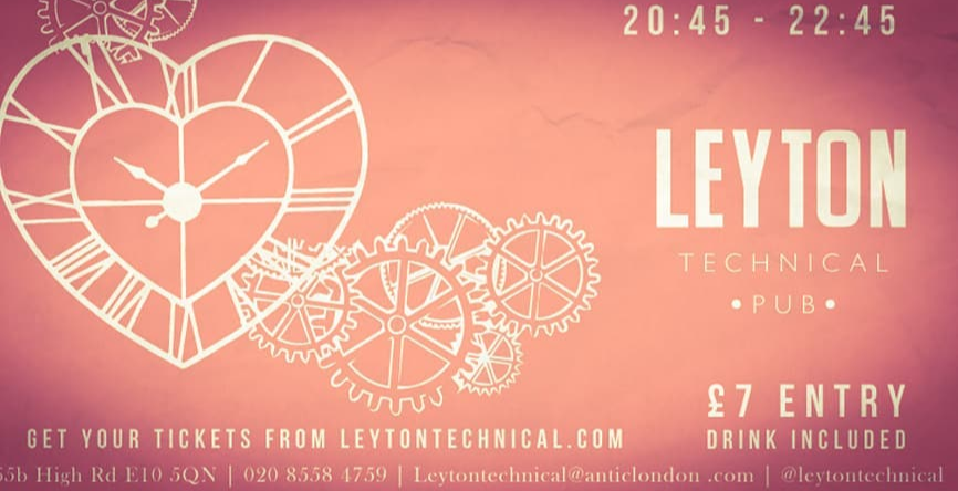 Over 30's Speed Dating @ Leyton Tech